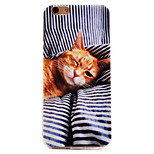 cat padrão TPU soft caso telefone caso iphone 6 / 6s