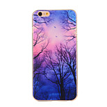 Purple Forest Pattern TPU Soft Case Phone Case for iPhone 6/6S