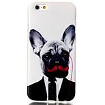 caja del teléfono de TPU del patrón del perro para el iPhone 6 / 6s