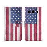 American or British  flag Leather case Cover Wallet Card Slot Case for Huawei G520/G525