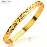 Vintage Flower Shape Jewelry Bangle For Women Jewelry 18K Gold Plated Fashion Design Bangles Gift BR70097