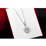 Charming Silver FLower Shape Women's Pendents