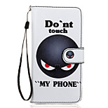 Don't Touch Me Pattern PU Leather Full Body Case with Stand for Sony Z5