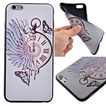 Watch Butterfly Pattern Black TPU Soft Case Phone Case for iPhone 6 Plus/6S Plus