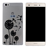 The Wind Blows The Dandelion Pattern Mobile Shell Transparent TPU Soft Shell Protective Sleeve for Huawei P8 Lite