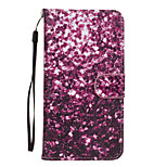 Purple Petals Pattern PU Leather Full Body Case with Stand for Sony Z5
