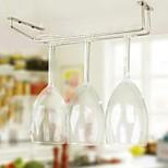 New Stainless Steel Wine Holder Stemware Wine Rack Under Cabinet Storage Organizer Glass Holder