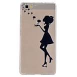 Dandelion Girl Pattern Slim Relief TPU Material Phone Case for P8 Huawei Lite