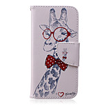 Giraffe Pattern PU Leather Material Phone Case for iPhone 6/6S