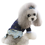 Dog Shirt / T-Shirt / Shirt Blue Spring/Fall Jeans Fashion