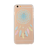 Blue Campanula Pattern TPU Soft Case Phone Case for iPhone 6 Plus/6S Plus