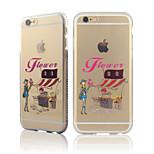 stad meisjes serie één diamant frame van TPU met achterkant van de behuizing voor iphone6 / 6s