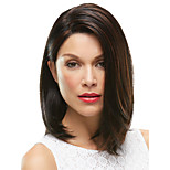 European Women Lady Middle Length Brown Color Synthetic Hair