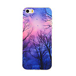 Purple Forest Pattern TPU Soft Case Phone Case for iPhone 5/5S