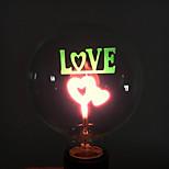 1 pièce YouOKLight E26/E27 2W / 25W 2 COB 100 LM Rouge B edison Vintage Lampe de Décoration AC 100-240 V