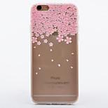 teste padrão de flor TPU soft caso telefone caso iphone 6 / 6s