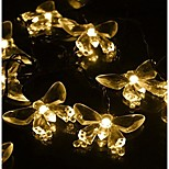 King Ro 40LED Crystal Butterfly Battery String Lights For Outdoor, Gardens, Homes, Wedding, Christmas Party, Waterproof