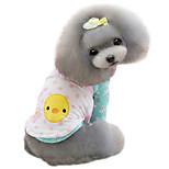 Hunde Mäntel Rosa / Gelb Winter Modisch