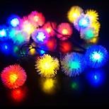 새로운 30led 배터리 작동 처즐 볼 소유주 왕은 크리스마스 문자열 조명 주도 (kl0071-RGB를, 흰색, 따뜻한 흰색)