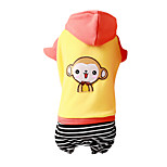 Dog Coat Red / Yellow / Orange Winter Fashion