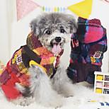 Dog Coat Red / Yellow Winter Fashion