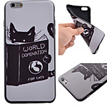 Cute Cat Pattern Black TPU Soft Case Phone Case for iPhone 6 Plus/6S Plus