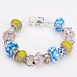 Fashion Jewelry Bracelets&brangle Glass European Beads bracelets for Women Gift Strand Beads bracelets BLH068