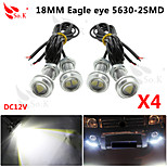 4 X 9W LED Eagle Eye Light Car Fog DRL Daytime Reverse Backup Parking Signal