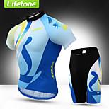 Kleidungs-Sets/Anzüge(Blau) -fürAtmungsaktiv / Rasche Trocknung / Anti-Ausrottung / YKK Reißverschluss / Schweißableitend-Kurze Ärmel-