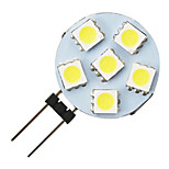 G4 1.2W 6-LED 5050 Warm White Round Shape LED Bulb