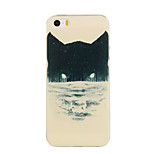 Black Cat Pattern TPU Soft Case Phone Case for iPhone 5/5S