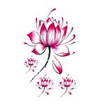 Halloween 1PCS Lotus FlowerWaterproof  Tattoo Stickers