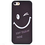 Smile Pattern Black TPU Soft Case Phone Case for iPhone 5/5S