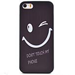 Lächeln Muster schwarz tpu weichen Fall Telefonkasten für iphone 5 / 5s