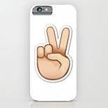 posture main ordinateur pc cas de téléphone étui rigide couverture arrière pour iPhone6 / 6s, plus