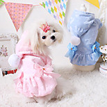 Dog Hoodie/Coat Blue / Pink Winter Warm Fashion