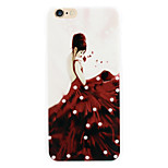Red skirts women diamond phone shell painted reliefs apply for iPhone6 puls|6s puls