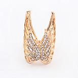 Women's New European Fashion Butterfly Wings Rhinestone Ring