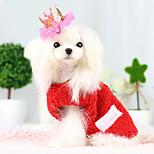 Dog Coat Red / Blue Winter Fashion