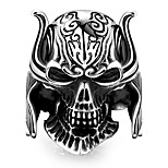 Ring Non Stone Others Unique Design Fashion Halloween Daily Casual Jewelry Steel Men Ring 1pc,8 9 10 11 Black