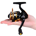 Mini Metal Fishing Spinning Reel ,10 Ball Bearing Gear Rate 5.2:1 Interchangeable Handle