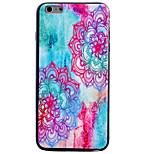 cassa del telefono colore diagonale modello di fiore TPU nero custodia morbida per iPhone 6 / 6S