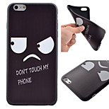 Deng Yanjing Pattern Black TPU Soft Case Phone Case for iPhone 6 Plus/6S Plus