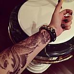 transferencia falsa brazo grande de pescado tótem del cuerpo tatuajes temporales sexy pegatinas