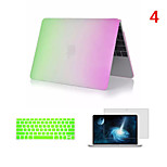 Top Selling Rainbow PVC MacBook Case with Keyboard Cover and Screen Flim for  MacBook Retina 15.4 inch