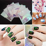 5PCS Glass Exotic Fantasy Wood Polar Lights Nail Stickers(5*20cm)