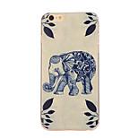 blauwe olifant patroon TPU zachte hoes-Hoes voor iPhone 6 plus / 6s plus
