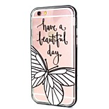 Butterfly Call Flashing TPU + PC Phone Case Combo for iPhone 6 / 6S