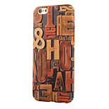 Vintage Wood Grain~2 PC With Painting Back Case For Iphone6,6S