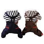 Hunde Kapuzenshirts Grau / Kaffee Winter Jeans / Streifen Modisch